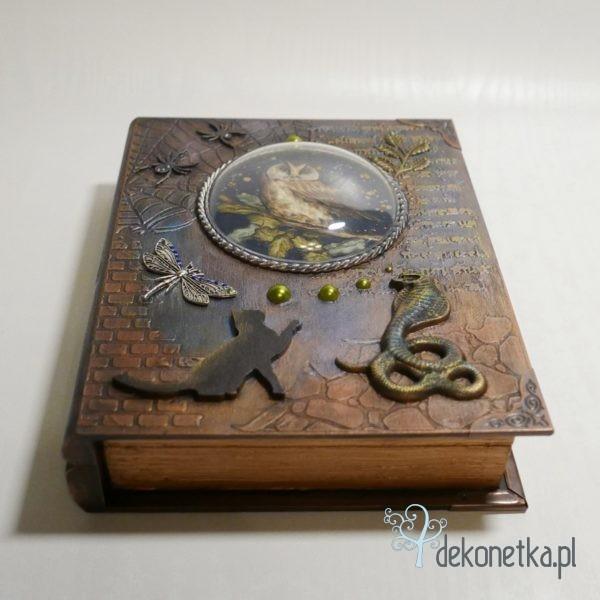 Pudełko- książka z sową